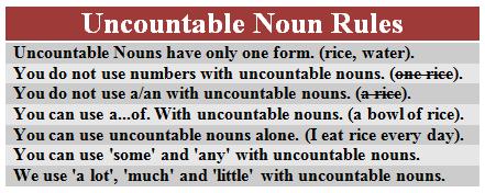 angol főnév - megszámlálhatatlan főnevek