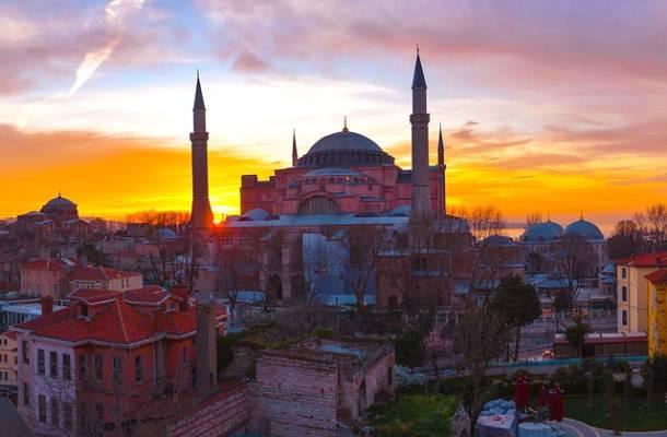 A Hagia Szophia Isztambulban török igékről
