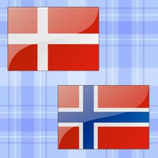 dán és norvég zászló