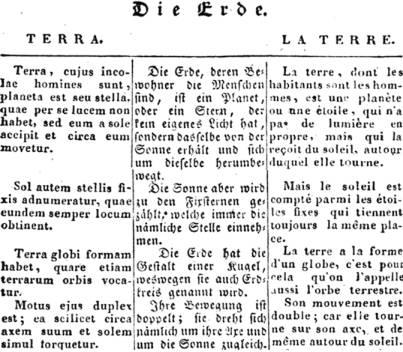 latin hatás a németben