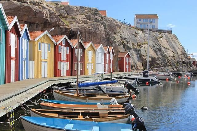 számok svédül csónak Svédország