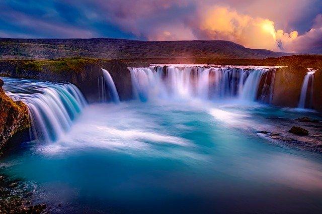 izlandi számok vízesés